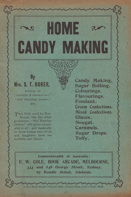 Home Candy Making. Mrs S. T. RORER.