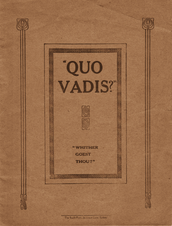 """Quo Vadis?"" 
