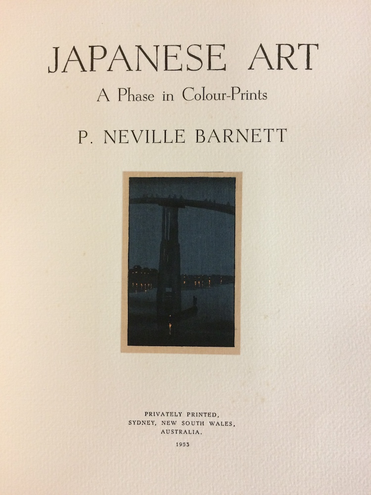 Japanese Art. A phase in colour-prints. P. Neville BARNETT.