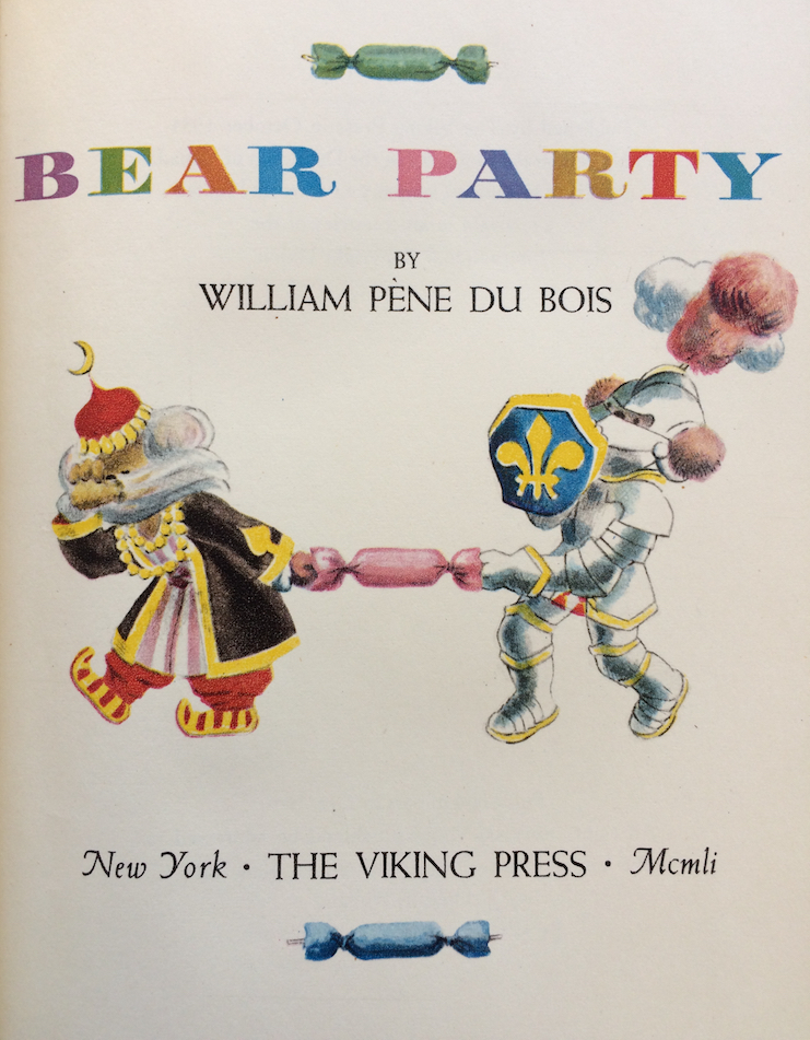 Bear Party. William Pène DU BOIS