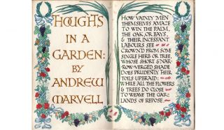 Thoughts in a Garden. Andrew MARVELL, Phoebe RENNELL.