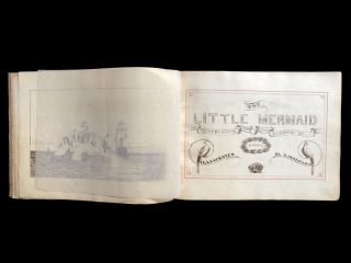 Original manuscript translation of 'The Little Mermaid'. Translated from the German by Miss H.C. Sterling with illustrations by A. Maynard.
