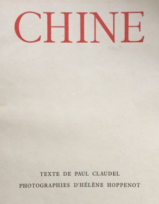 Chine. Paul CLAUDEL.