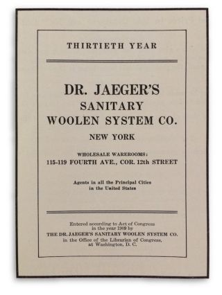 The Dr. Jaeger's Sanitary Woolen System Co.