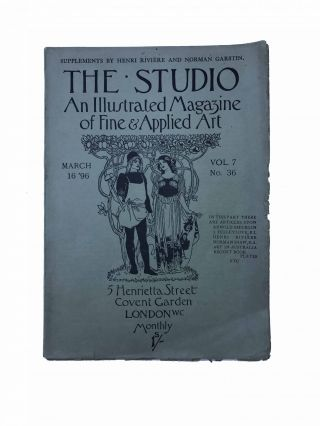The Studio. An Illustrated Magazine of Fine & Applied Art.