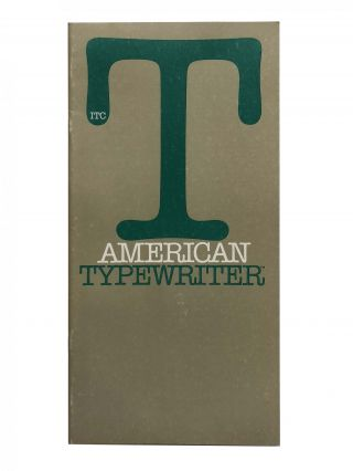 ITC American Typewriter. International Typeface Corporation, ITC
