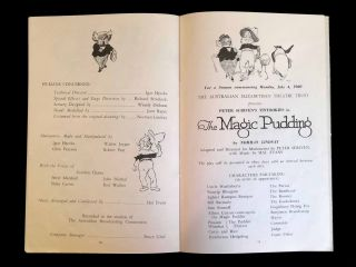 Peter Scriven's Tintookies in the Magic Pudding by Norman Lindsay; Adapted and Directed for Marionettes by Peter Scriven with Music by Hal Evans