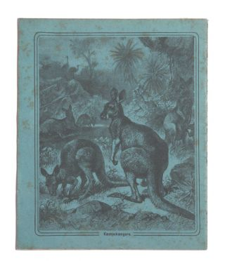 Child's exercise book with decorated Kangaroo covers. Friedrich SPECHT