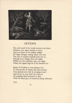 Discobolus and Other Verse. Lionel LINDSAY