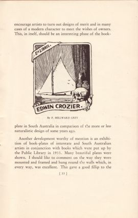 The Australian Ex Libris Society Year Book 1934. BOOKPLATES, Adrian FEINT, D. H., SOUTER