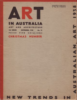 Art in Australia. Art and Architecture. Third Series. Number 73. ART IN AUSTRALIA, Sydney URE...