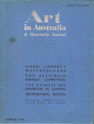 Art in Australia. A Quarterly Journal. Third Series Number 62. ART IN AUSTRALIA, Sydney URE...