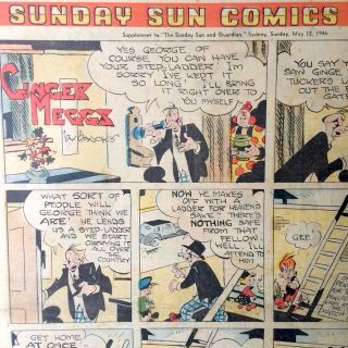 Sunday Sun Comics. Sunbeams Supplement to 'The Sunday Sun and Guardian' May 12 1946. J. C....