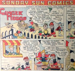 Sunday Sun Comics. Sunbeams Supplement to 'The Sunday Sun and Guardian' April 21 1946. J. C....
